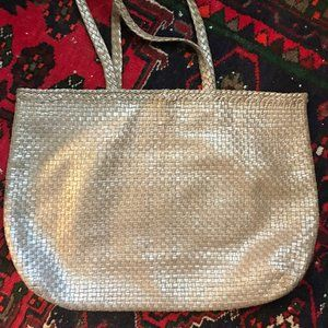 Helen Kaminski Taupe Woven Leather Bag/Tote